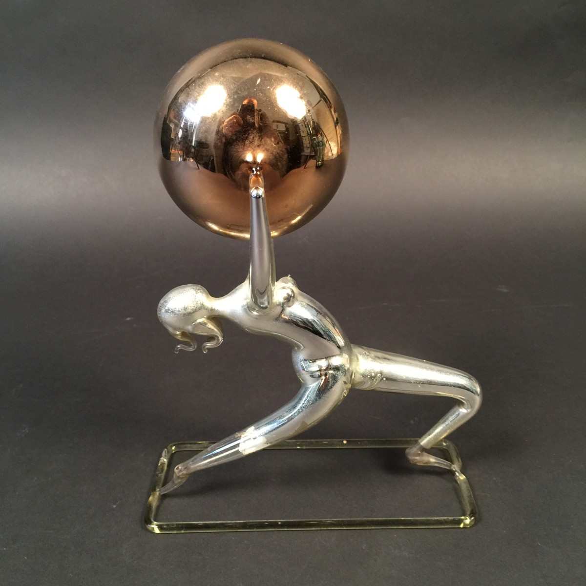 rare bimini glass art deco female ball dancer wiener. Black Bedroom Furniture Sets. Home Design Ideas