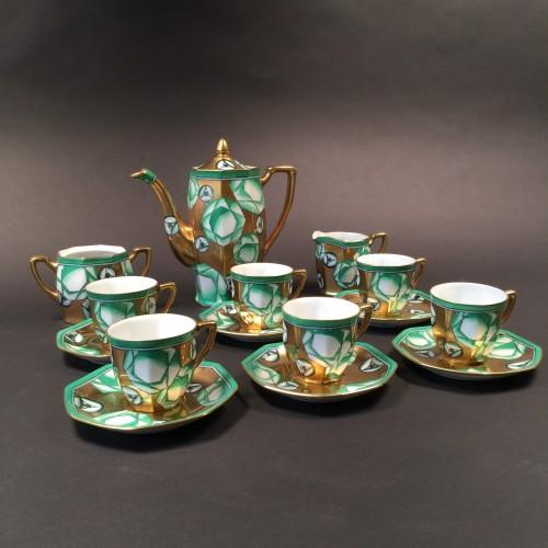"Noritake ""Service à café ou thé"" Art Déco 1922 - Frères Gumi ( Nayoga Japon ) par Cyril Lee Charles Kaiser - Nipon toki kabushiki kaisha"