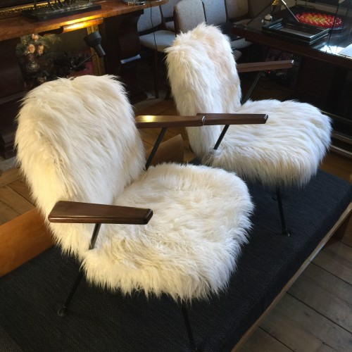 WILLEM HENDRICK GISPEN, Pair of Armchairs in the 1950s, produced by KEMBO