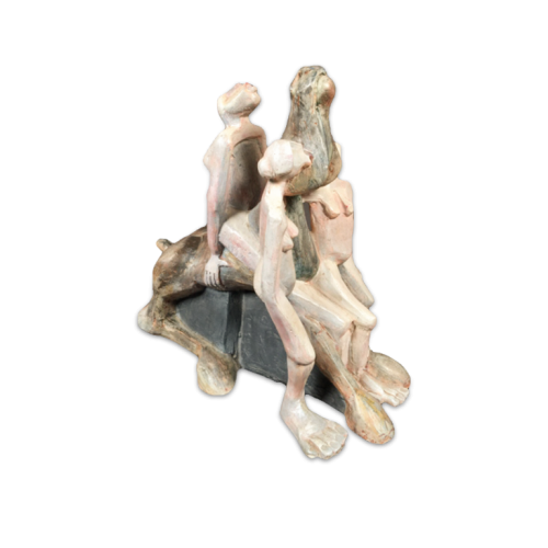 Expressionist Figurative Polyester Sculpture by André Wilkin - Circa 1980