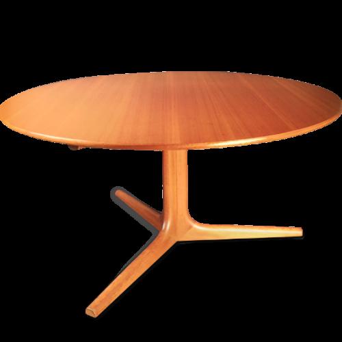 Ole Wansher (1903-1985) attributed, Danish Design Teak Circle CofeeTable - Circa 1960