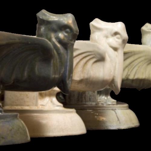 "Roger Guerin & Domien Ingels - Rare ""jardiniere aux pelicans"" Art Deco Sculpture- Circa 1925"