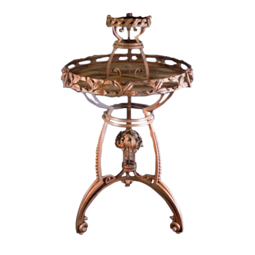 Exceptional and Large Wrought Iron Art Nouveau Sellette