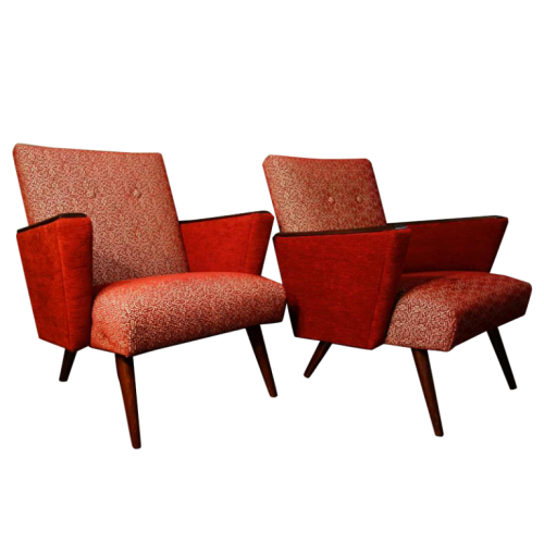 Pair of Design armchairs, restored and refurbished, circa 1950/60