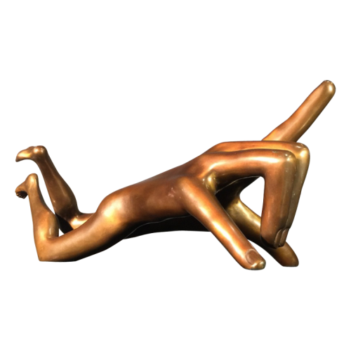 "Fleury Hélène ""Ambulant Hand"", Surrealist bronze sculpture, circa 2005"