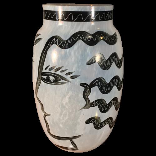 "Ulrica Hydman-Vallien ""CARAMBA"", Kosta Boda Glass (Sweden), circa 1980"