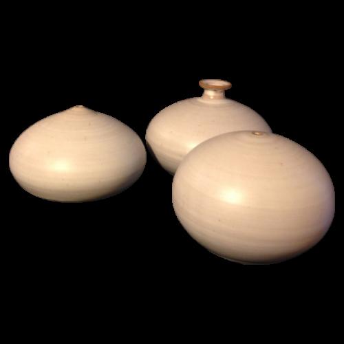 Antonio Lampecco, set of 3 ceramic vases, circa 1970