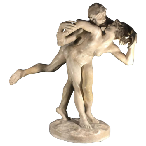 """Sculpture """"Le Baiser"""" - Jef Lambeau - Plâtre d'Atelier"""