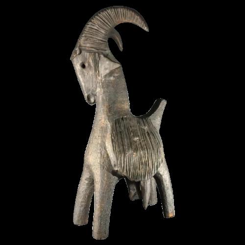 "Dominique Pouchain "" Goat "", large ceramic sculpture 22 inches, circa 1990"