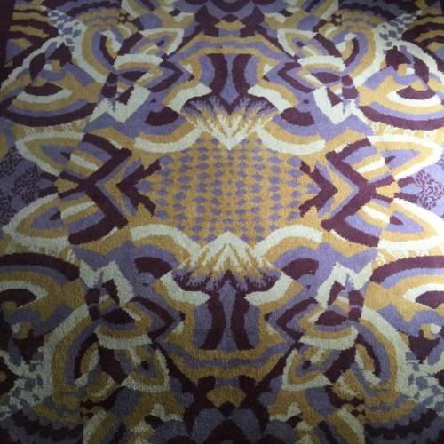 Raymond Chevallier (Boch Frères Keramis), Art Deco Modernist wool rug, 1930/40