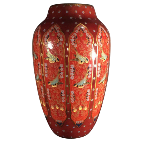 """Emil Fischer, ceramic vase """"tits"""" D253, Herend Pest before Zsolnay Pecs Hungary, 1880"""
