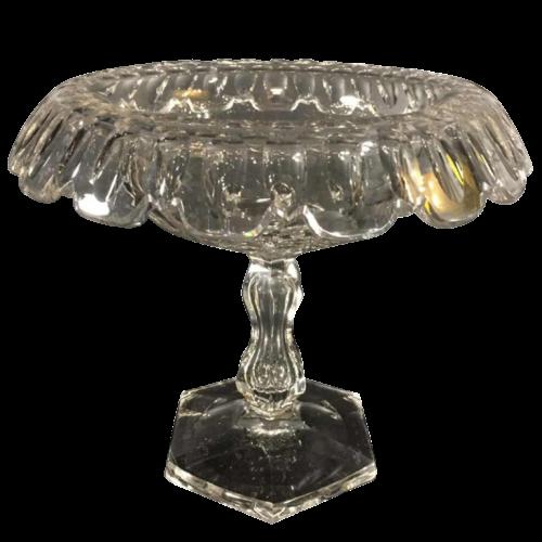 Val Saint Lambert, large centerpiece / fruit bowl 15 inches, cut crystal, 1880