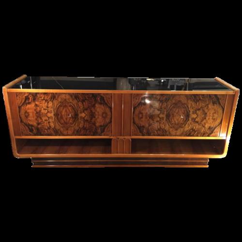 Important Art Deco sideboard / sideboard in burl walnut, mahogany, sycamore, circa 1930