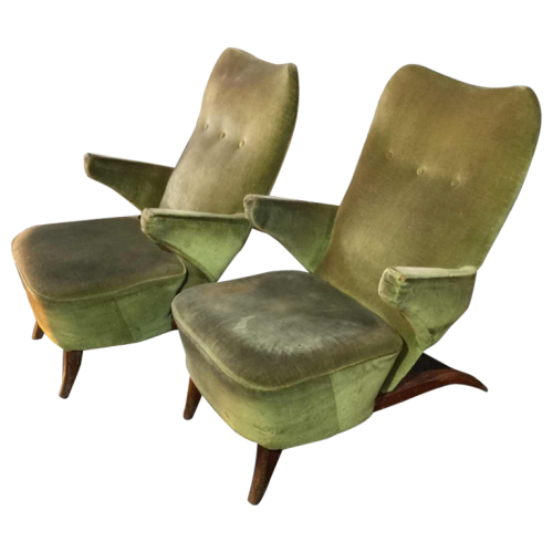 "Théo Ruth for ARTIFORT, Pair of Armchairs ""Penguin"", 1953"