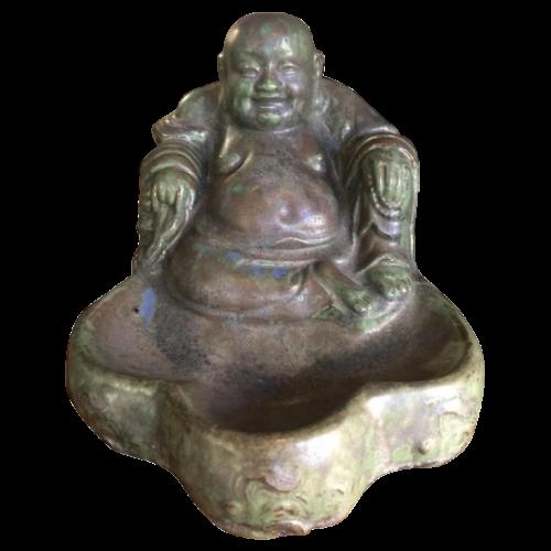 "ROGER GUERIN, "" BOUDDHA "" Rare Stoneware Pottery Sculpture, numbered 33A, circa 1930"