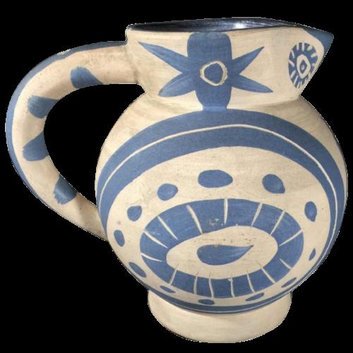 "PABLO PICASSO for MADOURA ""Little Owl"", ceramic pottery jug earthware, circa 1960"
