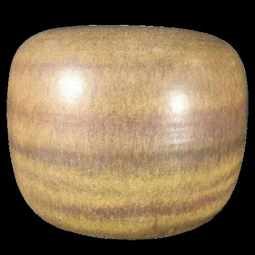ANTONIO LAMPECCO, brown Spherical ceramic pottery vase, circa 1970