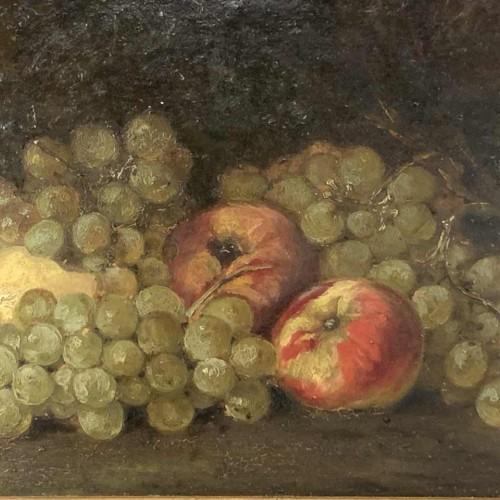 Painting ' Still life with fruits ' Oil signed and framed, 1900s