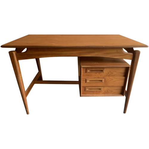 Peter Lovig Nielsen (attributed), Danish Scandinavian Design Teak Desk, 1960s