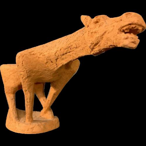 MARIO PERUGGINI, Terracotta Horse animal sculpture, Unique Piece, 1950/60s