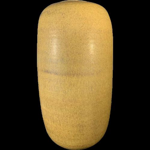 ANTONIO LAMPECCO, Large OBUS Ovoid Vase (41cm), Brown / Yellow in Ceramic, 1970s