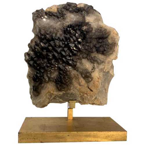WILLY DARO (attributed), Huge Black Natural Smoky QUARTZ Crystal Cluster, 1970s
