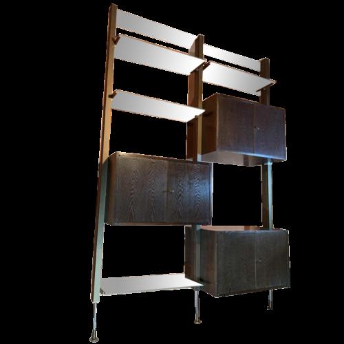 MICHEL DUCAROY for ROCHE BOBOIS, Wall Unit Modular Bookcase Shelf 1970s