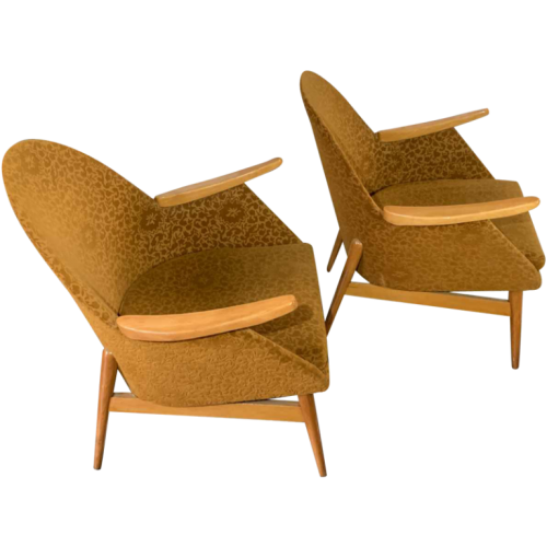 Pair of Vintage Armchairs, Perfect State, Czechoslovakia Design 1950s
