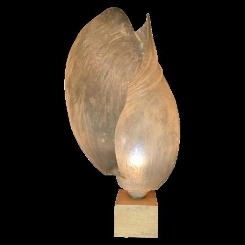"MARIKA CARNITI BOLLEA ""LIMNEA IL MARE"" Important 70s fiberglass resin shell large lamp (48 inch)"