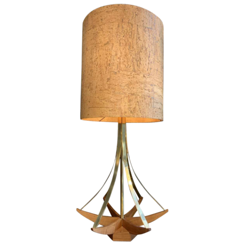 ADRIAN PEARSALL for MODELINE USA Architectural Table Lamp brass / Walnut 1950s