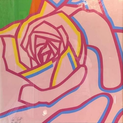 "LOUIS-MARIE LONDOT ""La Rose"", Pop'Art Print Serigraph, Small Edition 19/29, 1973"