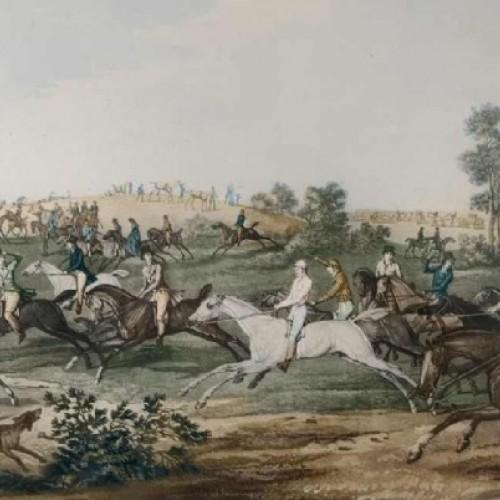 CARLE VERNET 'La Course' de chevaux, gravure équestre ancienne, 19ème siècle