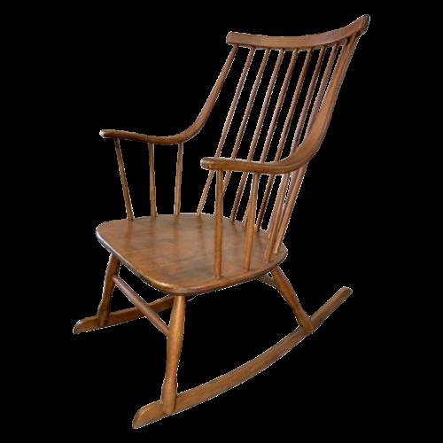 Lena Larsson for Nassjo Mobelfabrik 'GRANDESSA' Scandinavian Rocking Chair, 1958