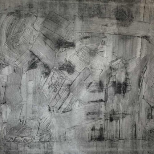 ANDRE LAPIERE 1966 ' Brume Mosane ' Large Abstract Painting, oil on canvas