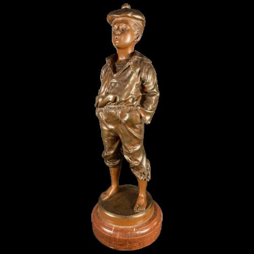 "VICTOR SZCZEBLEWSKI ""The Whistling Moss"", Bronze Sculpture, 1889"