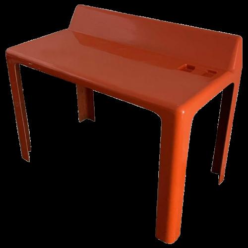 "PATRICK GINGEMBRE "" GINGER "" Orange Desk for PAULUS SPDM, Polyester fiberglass, 1970s"