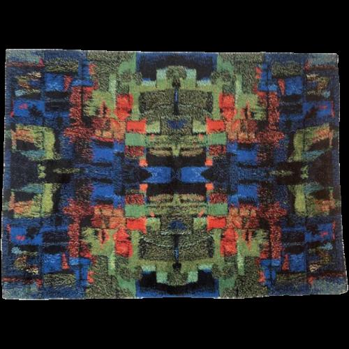 RITVA PUOTILA, GILDE MUSTER edition, Abstract Pure Wool Rug Carpet, ca 1965